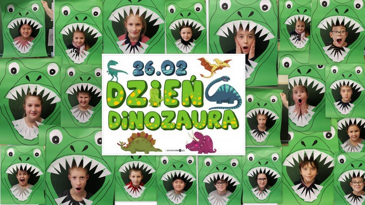 dzien dinozaura kolaż